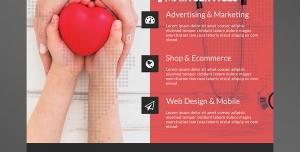 تراکت یا پوستر لایه باز تبلیغاتی ارتقای سطح بازاریابی در زمینه بیمه سلامتی و بیمه عمر یا خدمات مختلف پزشکی و سلامتی