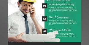 تراکت یا پوستر لایه باز تبلیغاتی ارتقای سطح بازاریابی در زمینه مشاغل شخصی و پروژه ای مهندسین معمار و نقشه کشان ساختمان