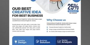 تراکت یا پوستر لایه باز تبلیغاتی بازاریابی و ایده پردازی در زمینه ارتقای کیفیت سطح خدمات و جذب مشتری در سلامتی و پزشکی