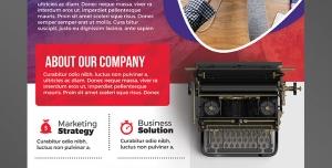پوستر یا تراکت لایه باز تبلیغاتی ارتقای سطح بازاریابی در زمینه تایپ متون فارسی و انگلیسی با کامپیوتر و تصویر ماشین تایپ