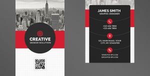 کارت ویزیت لایه باز تبلیغاتی به رنگ سفید و قرمز با موضوع شهرسازی ، معماری ، ساختمان سازی و برج سازی