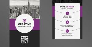 کارت ویزیت لایه باز تبلیغاتی به رنگ مشکی و بنفش با موضوع شهرسازی ، معماری ، ساختمان سازی و برج سازی