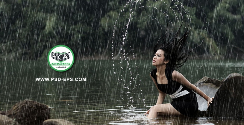 Add Rain to Photos 815x420 - فیلم آموزش رایگان اضافه کردن باران به عکس در فتوشاپ + افکت قطرات باران با کیفیت HD