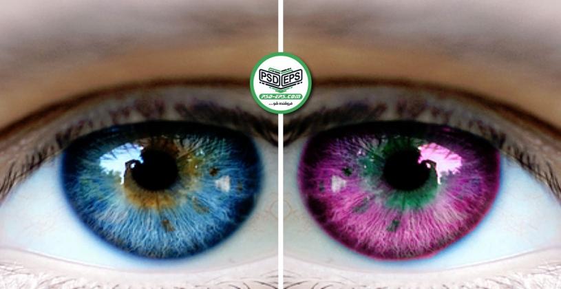فیلم آموزش رنگی کردن چشم در فتوشاپ با کیفیت HD یا آموزش تغییر رنگ چشم در فوتوشاپ