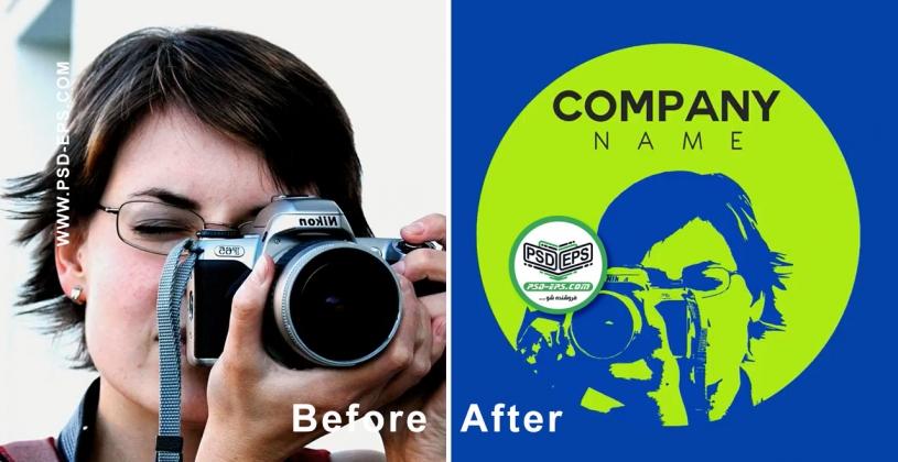 فیلم آموزش رایگان تبدیل عکس به لوگو با نرم افزار فوتوشاپ