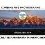 Create Panorama in Photomerge Tool 150x150 - فیلم آموزش ایجاد تصویر پاناروما با ترکیب چند عکس مجزا در فتوشاپ با کیفیت HD