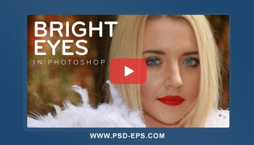 فیلم آموزش درخشنده کردن چشم در فتوشاپ با ایجاد چشمان جذاب ، شفاف و روشن + HD