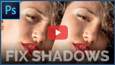 فیلم آموزش ترفند حذف سایه زیر چشم یا روتوش دور چشم در فتوشاپ