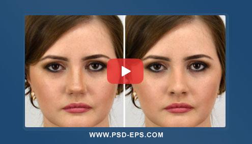 فیلم آموزش فتوشاپ تغییر یا عوض کردن بینی صورت در عکس یا روتوش بینی در تصویر + HD