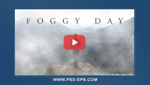 فیلم آموزش افکت ایجاد مه و ابر با فتوشاپ با کیفیت HD