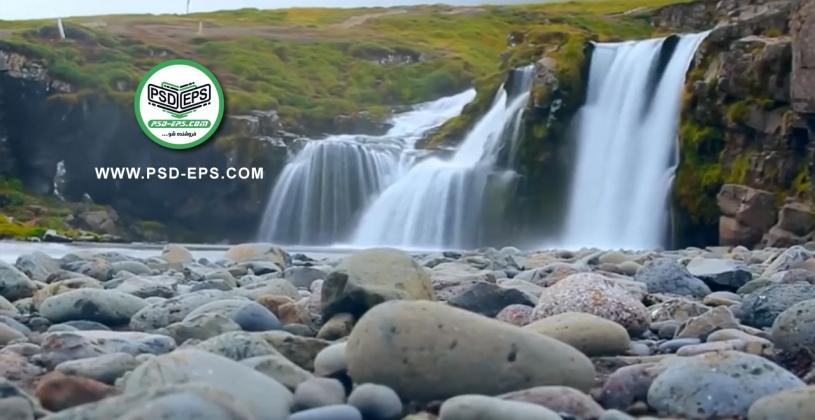 فیلم آموزش فتوشاپ آبشار و جلوه نرم و زیبا کردن ریزش آب جهت طرح پوستر و گردشگری + HD