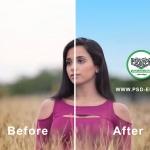 فیلم آموزش رایگان آبی کردن آسمان با فتوشاپ در عکس های منظره و محیط باز + HD