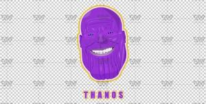 دانلود رایگان وکتور آماده لایه باز شخصیت تانوس Thanos