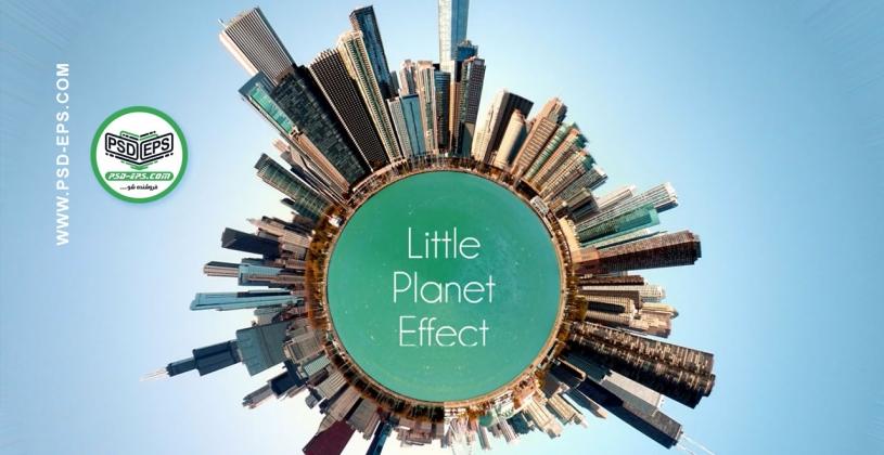 فیلم آموزش فتوشاپ چرخاندن عکس پانارومای 360 به دور دایره یا یک زمین کوچک با کیفیت HD