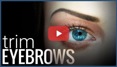 فیلم آموزش آرایش ابرو ، اصلاح یا روتوش ابرو برای زیباتر کردن چهره + HD