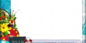 تراکت و پوستر لایه باز مهد کودک و پیش دبستانی و دبستان همراه با تصاویر قلمو و کره زمین و ساعت + PSD