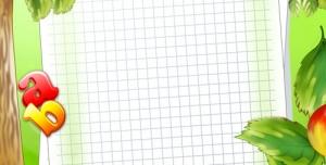 تراکت و پوستر لایه باز مهد کودک و پیش دبستانی و دبستان با طرح درخت سیب و توپ فوتبال و لوازم تحریر همراه با تصاویر شاد کودکانه + PSD