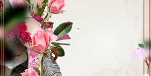 قاب گل یا فریم عاشقانه بصورت لایه باز + PSD