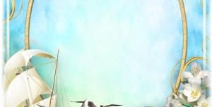 تراکت و پوستر لایه باز کودکانه کتاب و دفتر و کشتی بادبانی با طرحی شاد مناسب مهد کودک و پیش دبستانی و دبستان + PSD
