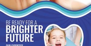 تراکت و پوستر لایه باز دندانپزشکی و کلینیک دندانپزشکی و ترمیم دندان + PSD