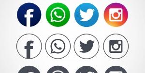 آیکون های شبکه های اجتماعی با کیفیت بالا برای طراحان