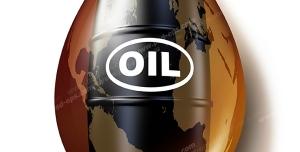عکس با کیفیت نمادین نفت و تاثیر آن بر اقتصاد جهانی قطره نفت با تصویر بشکه نفت و نقشه قاره ها بر روی آن