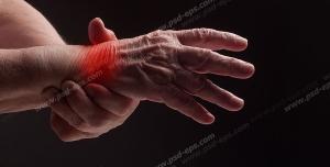 عکس با کیفیت تصویری از قسمتی از دست و درد در ناحیه مچ