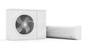 عکس با کیفیت اسپلیت یونیت یا کولر گازی از نمای روبرو