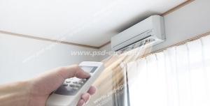 عکس با کیفیت روشن کردن اسپلیت یا کولر گازی داخل اتاق