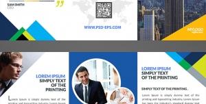 بروشور سه لت لایه باز تبلیغاتی ارتقای بازاریابی در زمینه برج سازی یا شرکت های تجاری و بازرگانی بین المللی