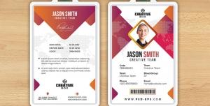 کارت شناسایی مسابقات هنری بین المللی با طرح مثلثی یا آی دی کارت به رنگ های صورتی و سفید لایه باز معرفی اعضای شرکت کننده در همایش ، جشنواره یا نمایشگاه