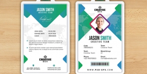 کارت شناسایی مسابقات هنری و بین المللی با طرح مثلثی یا آی دی کارت به رنگ های سبز و سفید لایه باز معرفی اعضای شرکت کننده در همایش ، جشنواره یا نمایشگاه