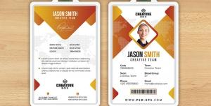 کارت شناسایی مسابقات هنری و بین المللی با طرح مثلثی یا آی دی کارت به رنگ های زرد و سفید لایه باز معرفی اعضای شرکت کننده در همایش ، جشنواره یا نمایشگاه