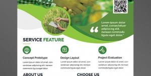پوستر یا تراکت لایه باز تبلیغاتی روش های نوین باغبانی و زراعت سیفی جات در زمین های کشاورزی