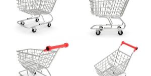 عکس با کیفیت نماهای مختلف از سبد خرید مورد استفاده در فروشگاه های زنجیره ای