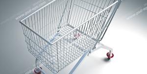 عکس با کیفیت سبد خرید فروشگاهی چرخ دار مخصوص خرید از فروشگاه های زنجیره ای