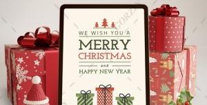 قالب آماده لایه باز تبریک کریسمس