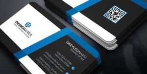 کارت ویزیت آبی سیاه