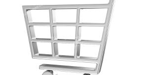 عکس با کیفیت آیکون سبد خرید مناسب استفاده تبلیغات فروشگاه های زنجیره ای