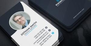 کارت ویزیت شخصی آبی سیاه
