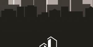 کارت ویزیت لایه باز مدرن بنگاه املاک، ساختمان، پیمانکاری