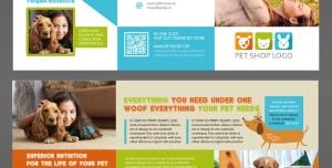 طرح آماده لایه باز بروشور سه لت دورو ویژه شرکت های تجاری بازرگانی حیوانات خانگی دامپزشکی