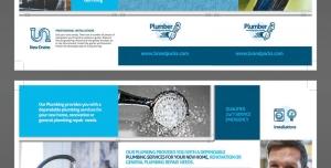 طرح آماده لایه باز بروشور سه لت ویژه شرکت های تجاری بازرگانی لوله لوازم بهداشتی ابزار آلات لوله کشی