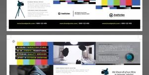 طرح آماده لایه باز بروشور سه لت دورو ویژه شرکت های عکاسی فیلمبرداری طراحی عکس