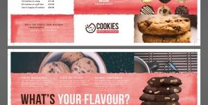 طرح آماده لایه باز بروشور سه لت ویژه شیرینی پزی ها کیک فروشی ها رستوران ها کارخانه کیک رستوران قنادی