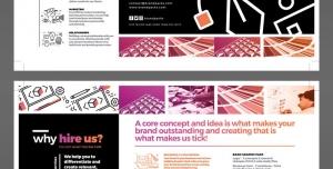 طرح آماده لایه باز بروشور سه لت ویژه شرکت های تجاری بازرگانی طراحی دیزاین ایده پردازی