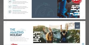 طرح آماده لایه باز بروشور سه لت دورو ویژه شرکت های مسافرتی تورهای گردشگری و جهانگردی