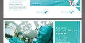 طرح آماده لایه باز بروشور سه لت ویژه شرکت های تجاری بازرگانی بیمارستان ها پزشکی خرید و فروش لوازم پزشکی