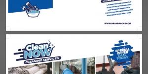 طرح آماده لایه باز بروشور سه لت ویژه شرکت های تجاری بازرگانی لوازم خانگی فروش حوله شرکت های نظافتی