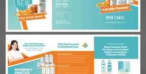 طرح آماده لایه باز بروشور سه لت ویژه شرکت های تجاری بازرگانی داروسازی آزمایشگاهی داروخانه
